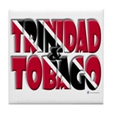 Word Art Trinidad & Tobago Tile Coaster