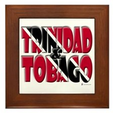 Word Art Trinidad & Tobago Framed Tile