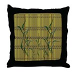 Exotic Tropical Bamboo Throw Pillow