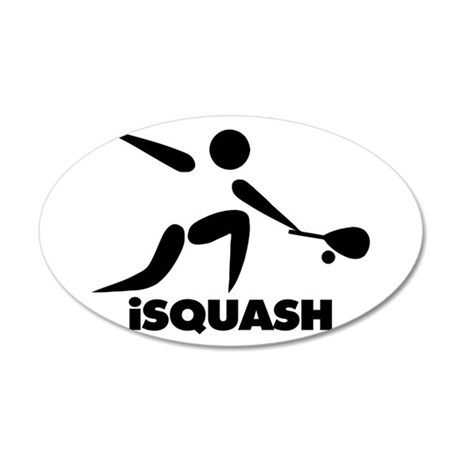 Game Of Squash iSquash Logo 20x12 Oval Wall Decal