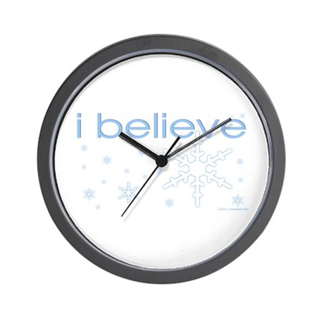 I believe in snow Wall Clock