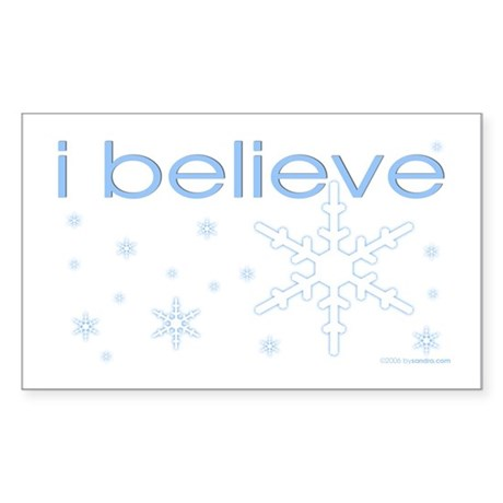 I believe in snow Rectangle Sticker