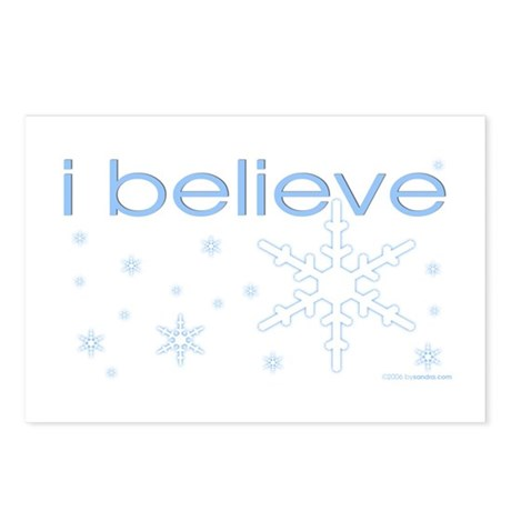 I believe in snow Postcards (Package of 8)