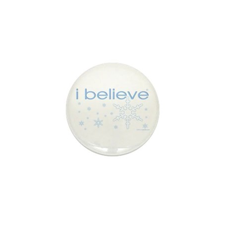 I believe in snow Mini Button (10 pack)