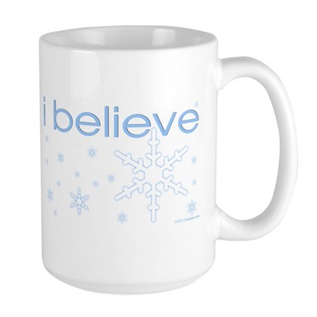 I believe in snow Large Mug
