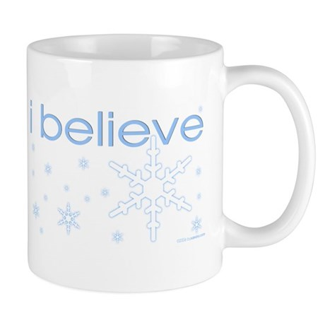 I believe in snow Mug
