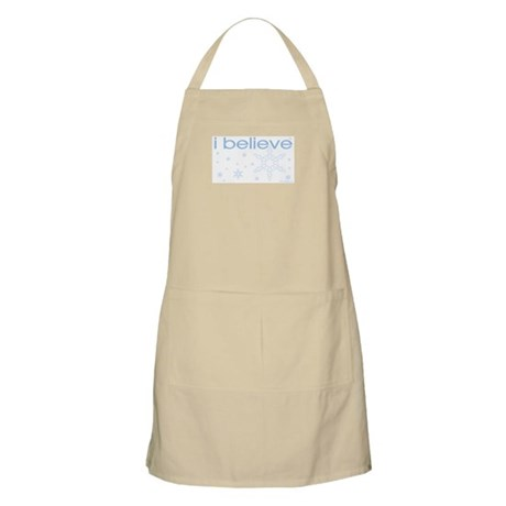 I believe in snow BBQ Apron