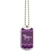 Purple Paisley Horse Dog Tags