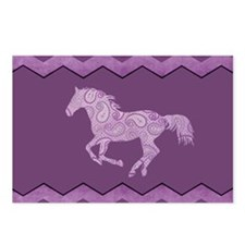 Purple Paisley Horse Postcards (Package of 8)