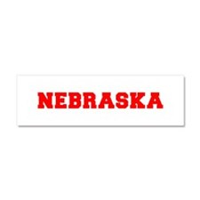 nebraska-fresh-red Car Magnet 10 x 3