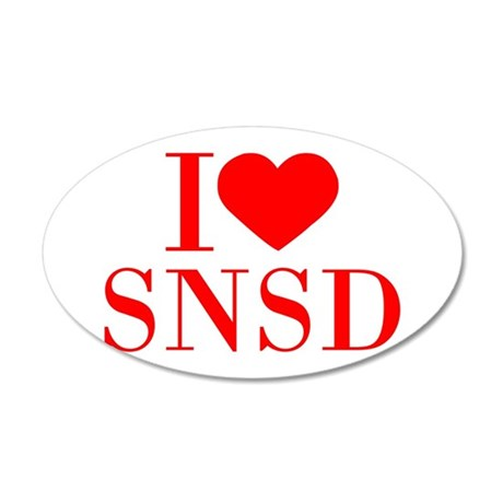 I-love-snsd-bod-red Wall Decal