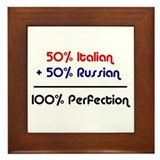 Italian & Russian Framed Tile