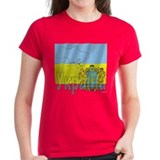 Silky Flag Ukraine (Cyr.) Tee