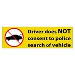 No Consent Bumper Sticker