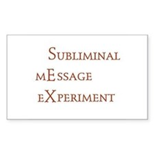 subliminal message experiment Sticker (Rectangular