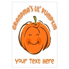 Grandma's Little Pumpkin Personalized Wall Art