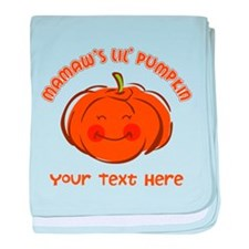 Mamaw's Little Pumpkin Personalized baby blanket