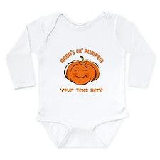Nana's Little Pumpkin Personalized Long Sleeve Inf