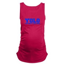 YOLO-FRESH-BLUE Maternity Tank Top