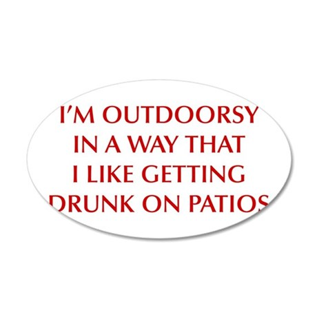 IM-OUTDOORSY-OPT-DARK-RED Wall Decal