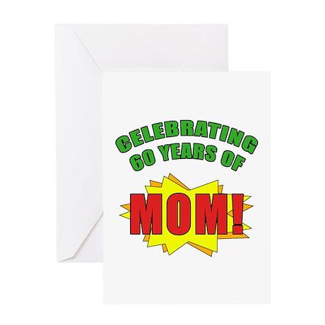 Celebrating Mom's 60th Birthday Greeting Card
