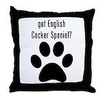 got English Cocker Spaniel? Throw Pillow
