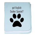 got English Cocker Spaniel? baby blanket