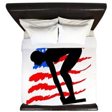 USA SWIMMER King Duvet