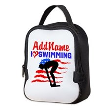 SWIMMER GIRL Neoprene Lunch Bag