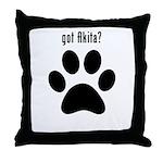got Akita? Throw Pillow