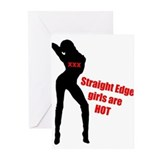 Hot Edge Girl Greeting Cards (Pk of 10)