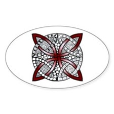 Personalizable Maroon Decorative Celtic Knot Stick
