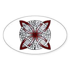 Personalizable Maroon Decorative Celtic Knot Stick
