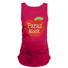 Paraeducator Paras Rock apple Maternity Tank Top