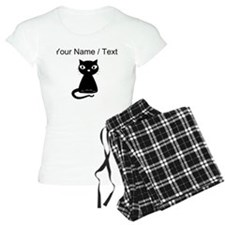 Custom Cartoon Black Cat pajamas