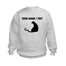 Custom Black Cat Silhouette Sweatshirt
