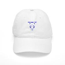Custom Blue Tiger Face Baseball Cap
