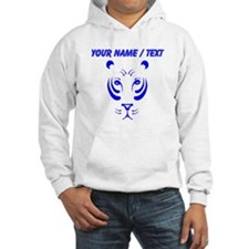 Custom Blue Tiger Face Jumper Hoody