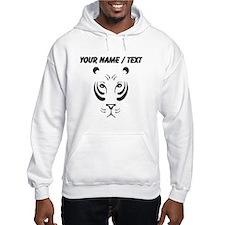 Custom Black Tiger Face Jumper Hoody