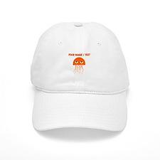 Custom Orange Jellyfish Baseball Cap