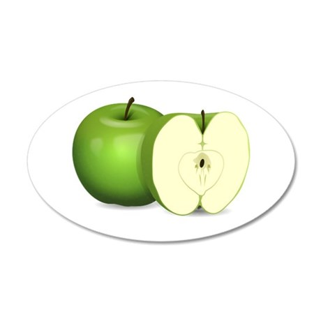 Sliced Green Apple Wall Decal