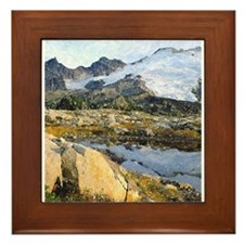 Mt Baker Washington State Framed Tile