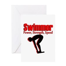 AWESOME SWIMMER Greeting Card