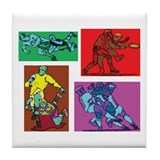Pop Art Rugby Tile Coaster