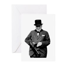 Churchill's Tommy Gun Blank Cards (Packa