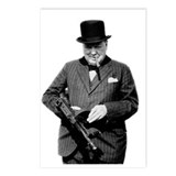 Churchill's Tommy Gun Postcards (Package