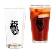 Raccoon Logo (line art) Drinking Glass