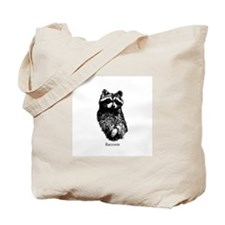 Raccoon Logo (line art) Tote Bag