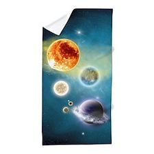 New Solar System Beach Towel