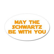 MAY-THE-SCHWARTZ-star-orange Wall Decal